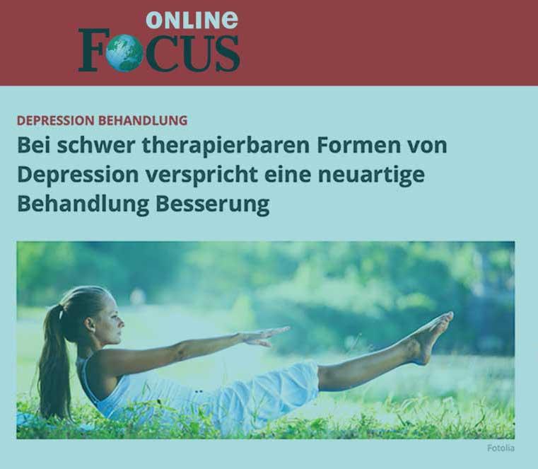 Behandlung von Depressionen mit Ketamintherapie in Berlin